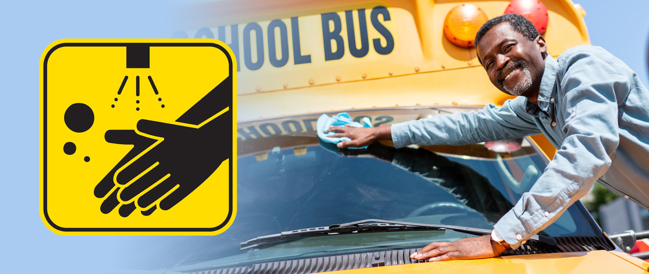 Cleaning School Bus Banner 2